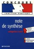 Gérard Terrien et Rémi Leurion - Note de synthèse - Catégories A et B.