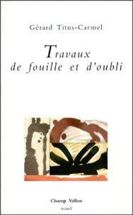 Gérard Titus-Carmel - .