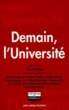 Gérard Tobelem et  Collectif - Demain, l'université - Actes du colloque tenu au Sénat, palais du Luxembourg, le 7 octobre 1998.