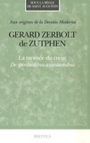 Gérard Zerbolt de Zutphen - La montée du coeur - De spiritualibus ascensionibus.