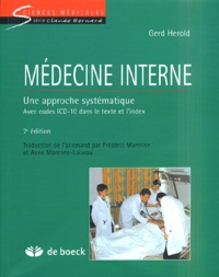 Gerd Herold - Médecine interne - Une approche systématique.