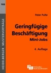 Geringfügige Beschäftigung - Mini-Jobs.