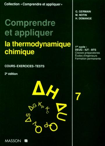 Comprendre Et Appliquer La Thermodynamique De Germain Livre Decitre
