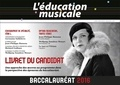 Germaine Taillefer et Jean-Philippe Rameau - L'éducation musicale, Baccalauréat, Option facultative, toutes séries, Enseignement de spécialité, Série L - Livret du candidat.