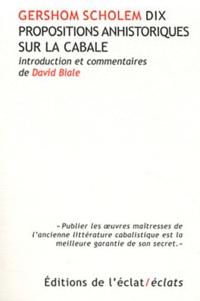 Deedr.fr Dix propositions anhistoriques sur la cabale Image