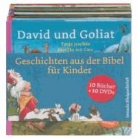 Geschichten aus der Bibel für Kinder - 10 Bilderbücher mit 10 DVDs in einer Box.
