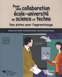 Ghislain Samson et Abdelkrim Hasni - Pour une collaboration école-université en science et techno - Des pistes pour l'apprentissage.