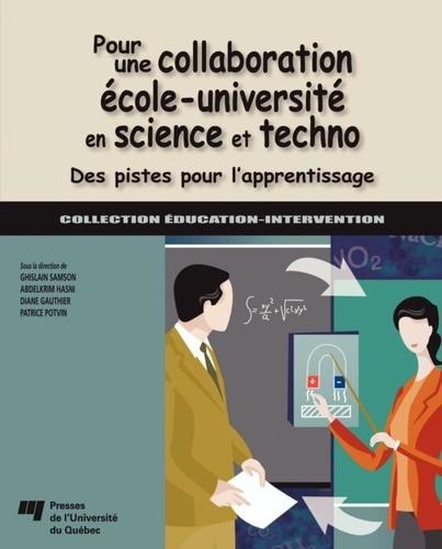 Pour une collaboration école-université en science et techno. Des pistes pour l'apprentissage