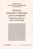 Ghislain Samson et Christine Couture - Recherche participative et didactique pour les enseignants - Perspectives croisées en science et technologie.
