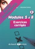 Ghislaine Camus - Aides-soignantes Modules 1 à 8 - Exercices corrigés.
