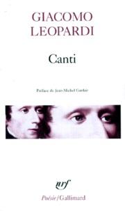 Giacomo Leopardi - Canti. (avec un choix des) êuvres morales.