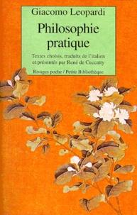 Giacomo Leopardi - Philosophie pratique.