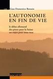 Gian Domenico Borasio - L'autonomie en fin de vie - Le débat allemand, des pistes pour la Suisse, un enjeu pour nous tous.