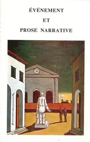 Giancarlo De Chirico - Evènement et prose narrative.