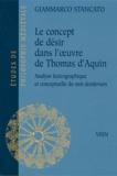 Gianmarco Stancato - Le concept de désir dans l'oeuvre de Thomas d'Aquin - Analyse lexicographique et conceptuelle du mot desiderium.