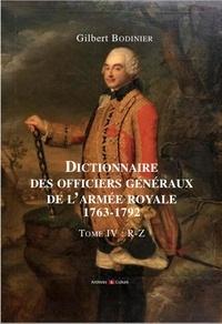 Alixetmika.fr Dictionnaire des officiers généraux de l'armée royale (1763-1792) - Tome 4, Lettres P à Z Image