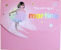 Mon petit coffret Martine- Avec 5 enveloppes, 1 carnte, 5 cartes et 2 planches de stickers - Gilbert Delahaye |