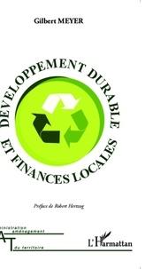 Gilbert Meyer - Développement durable et finances locales.