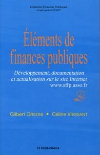 Gilbert Orsoni et Céline Viessant - Eléments de finances publiques - Développement, documentation et actualisation sur le site Internet www.sffp.asso.fr.