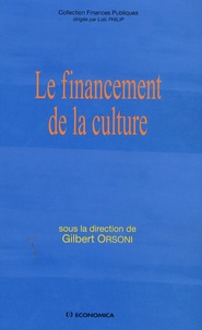 Gilbert Orsoni - Le financement de la culture.