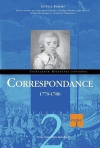 Gilbert Romme - Correspondance - Volume 2, 1779-1786, 2 volumes.