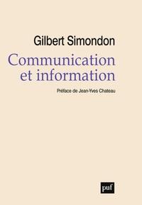 Gilbert Simondon - Communication et information.