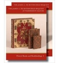 Giles Barber et Geoffrey de Bellaigue - The James A. de Rothschild Bequest at Waddeson Manor - Printed Books and Bookbinding: Two Volume Set.
