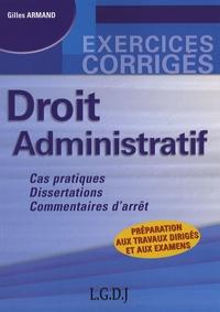 Gilles Armand - Droit administratif.