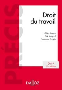 Gilles Auzero et Emmanuel Dockès - Droit du travail 2019.