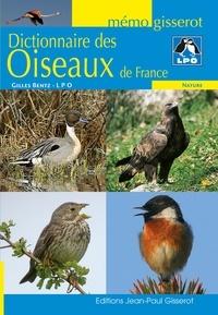Gilles Bentz - Dictionnaire des oiseaux de France.