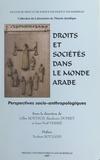 Gilles Boëtsch - Droits et sociétés dans le monde arabe : perspectives socio-anthropologiques.