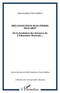 Gilles Boudinet - Mélanges pour Jean-Pierre Mialaret.