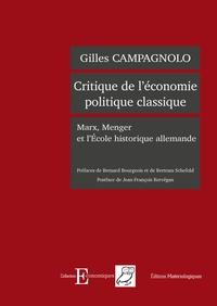 Deedr.fr Critique de l'économie politique classique - Marx, Menger et l'Ecole historique allemande Image