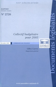 Gilles Carrez - Collectif budgétaire pour 2005.