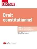 Gilles Champagne - Droit constitutionnel.