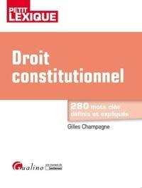 Livres gratuits en ligne download pdf Droit constitutionnel par Gilles Champagne in French RTF