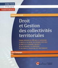 Gilles Champagne - Droit et gestion des collectivités territoriales.