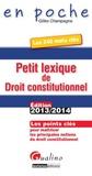 Gilles Champagne - Petit lexique de droit constitutionnel.