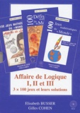 """Gilles Cohen et Elisabeth Busser - Affaire de Logique Coffret 3 volumes des Jeux mathématiques du """"Monde""""."""
