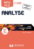 Gilles Costantini - Analyse MPSI/PCSI 1re année - Cours, exercices corrigés.