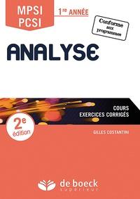 Analyse MPSI/PCSI 1re année- Cours, exercices corrigés - Gilles Costantini | Showmesound.org
