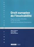 Gilles Cuniberti et Paola Nabet - Droit européen de l'insolvabilité - Règlement (UE) 2015/848 du 20 mai 2015 relatif aux procédures d'insolvabilité.