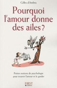 Gilles d' Ambra - Pourquoi l'amour donne des ailes ? - Petites notions de psychologie pour trouver l'amour et le garder.