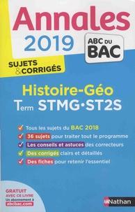 Gilles Darier - Histoire et géographie Tle STMG-ST2S - Sujets & corrigés.