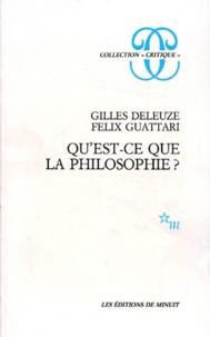 Qu Est Ce Que La Philosophie Gilles Deleuze Felix Guattari