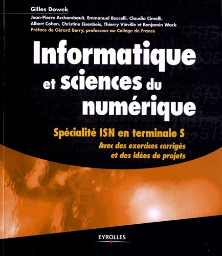 Informatique et sciences du numérique. Spécialité ISN en terminale S