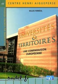 Gilles Ferréol - Universités & territoires - Une comparaison européenne.