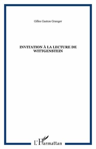 Invitation à la lecture de Wittgenstein