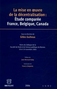 Goodtastepolice.fr La mise en oeuvre de la décentralisation: étude comparée France, Belgique, Canada Image