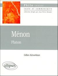 Gilles Kévorkian - MENON DE PLATON.